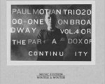 Paul Motian Trio 2000+One: On Broadway Vol. 4 (The Paradox of Continuity)