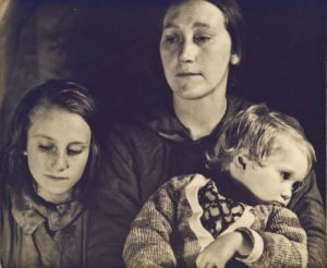 Frances Flaherty with her children