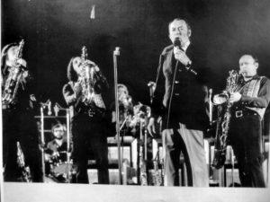 S Woodym Hermanem, Jan Konopásek vpravo. 1973–74. (Archiv Jana Konopáska)
