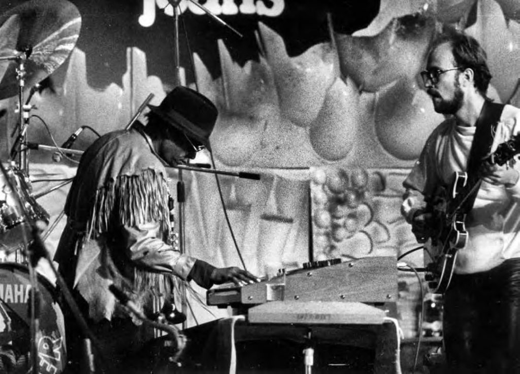 Miles Davis a John Scofield, Varšava 1983 (Foto Vladimír Kouřil)